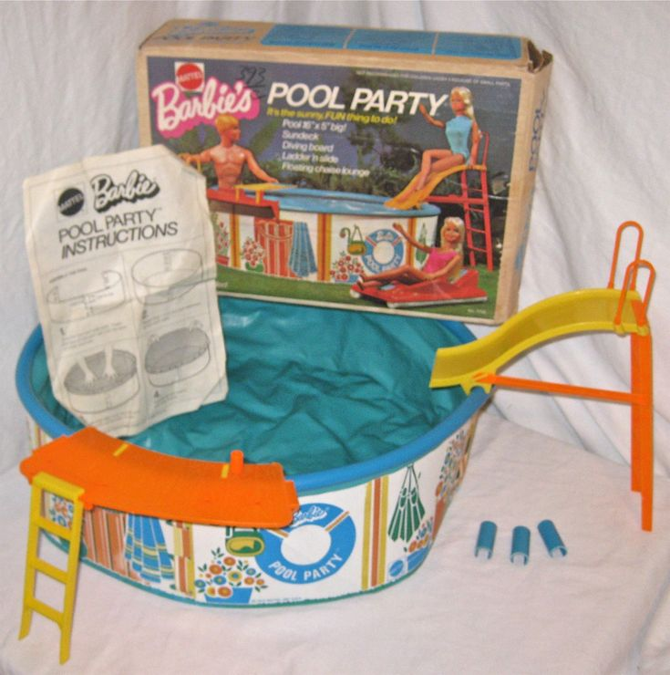 Barbie Swimming Pool - My dolls had so much fun in this pool!!!