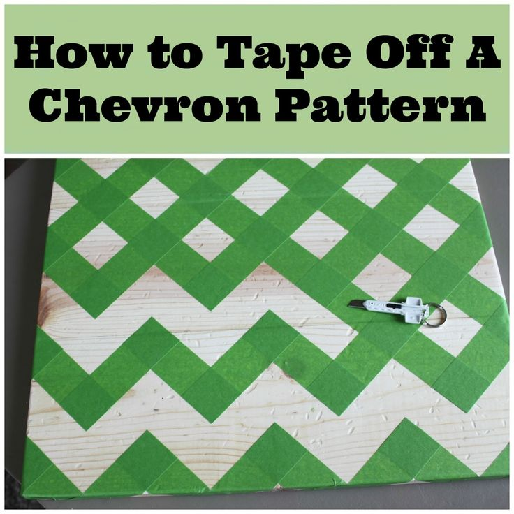 How To Tape Off A Chevron Pattern...I coulda used this tonight before I screwed up a chevron canvas project! Lol