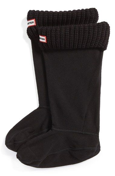 Free shipping and returns on Hunter Tall Cardigan Knit Cuff Welly Boot Socks at Nordstrom.com. Cozy sweater-knit cuffs top soft fleece socks designed to add warmth and comfort to your favorite rain boots.