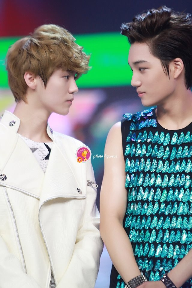 Luhan ~ Kai . What a stare. >