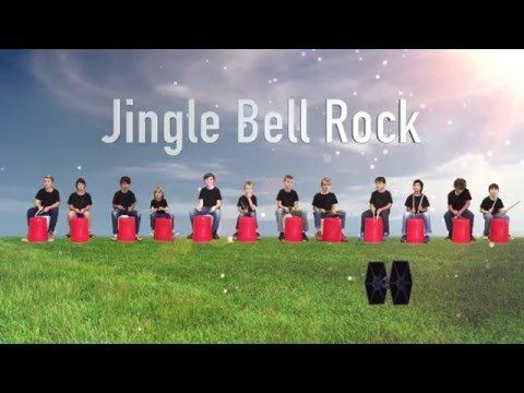 Jingle bell rock bucket drum routine - YouTube