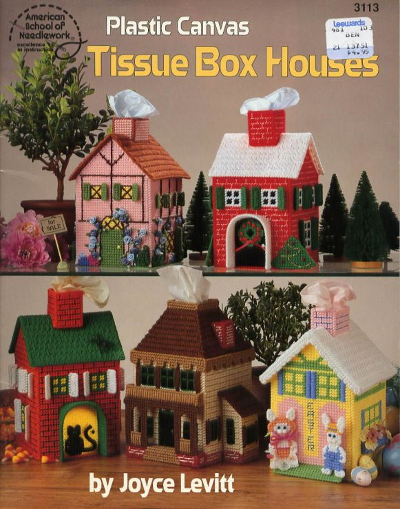 Free Plastic Canvas Pattern Tissue Box Houses
