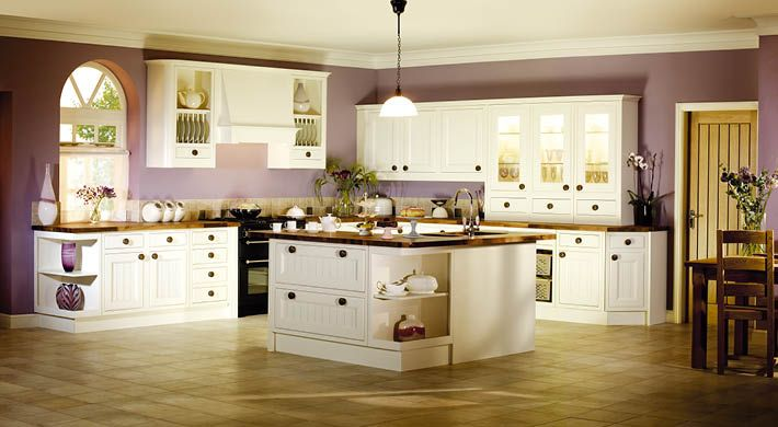 The Linton Kitchen Range. A combination of contemporary and traditional kitchen styling with classic yet simple painted timber. #bespoke #kitchen #shaker #white