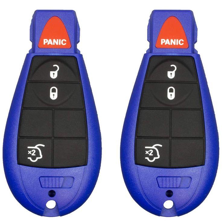 2 new keyless entry 5 buttons remote start car key fob iyz