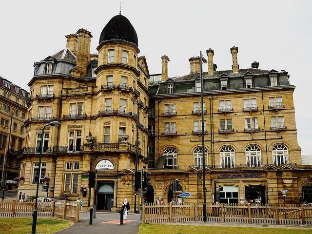 The Midland Hotel in Bradford, West Yorkshire. A former railway hotel.