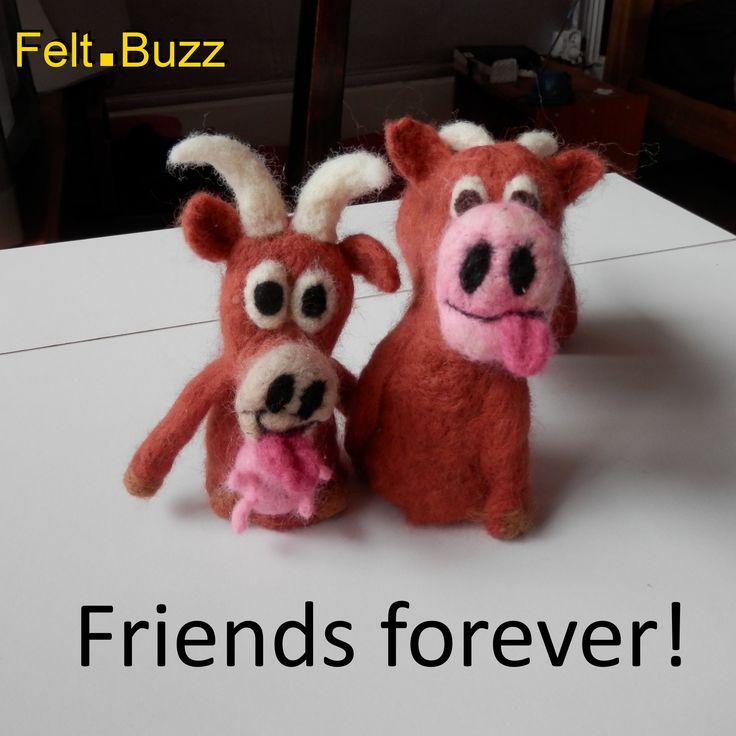Limousin cow finger puppets Forever friends Felt.Buzz