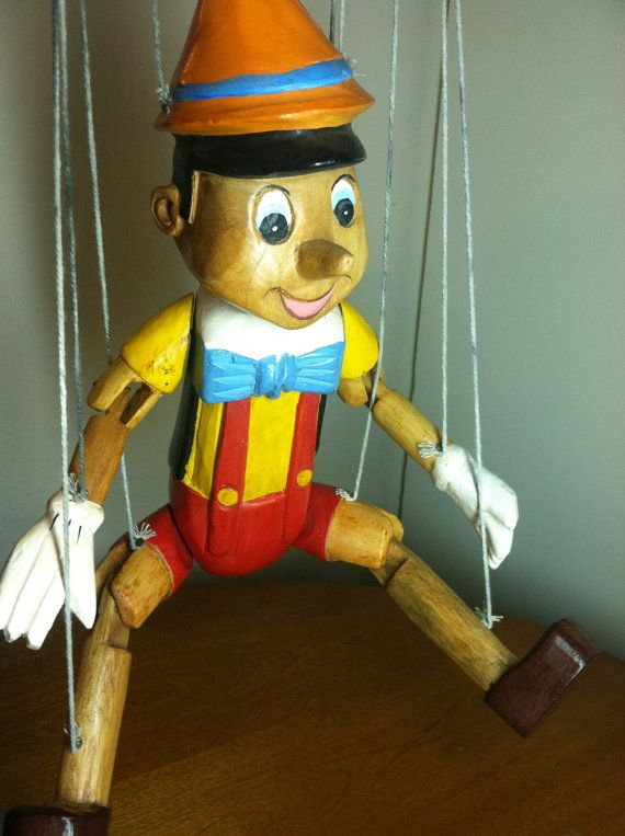 Vintage Wooden Walt Disney's Pinocchio Puppet