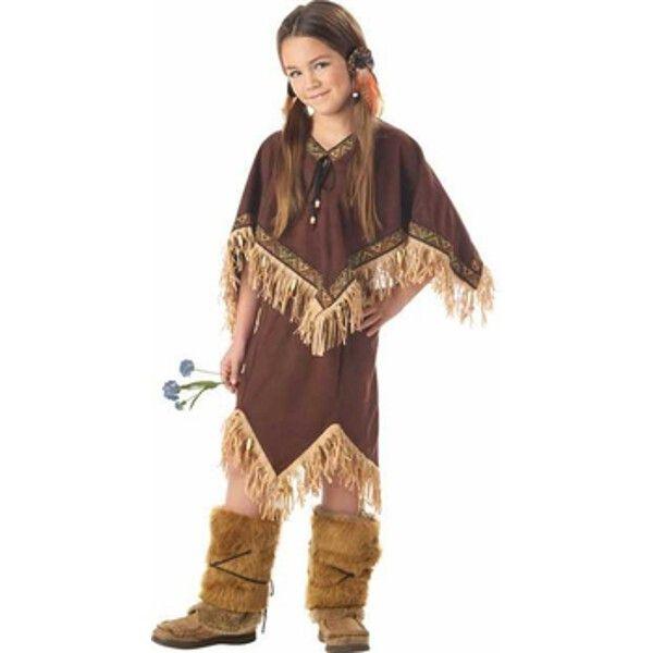 Childs Indian Princess Wildflower Costume