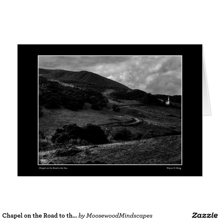 Chapel on the Road to the Sun Monochrome Card
