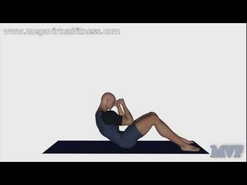 Ejercicios abdominales superiores quemadores de grasa  #3 - YouTube