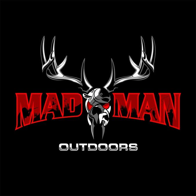 Create a Mad Man extreme hunting and fishing store Logo by saugi