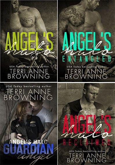 Românticos e Eróticos  Book: Terri Anne Browning - Angel's Halo MC #1 e #2