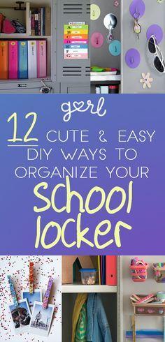 12 Cute And Easy DIY Ways To Organize Your School Locker