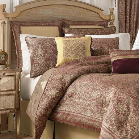 The Faberge bedding collection by Croscill features an intricate r...