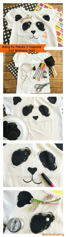 Kung Fu Panda 3 D.I.Y Birthday Shirt pinterest button