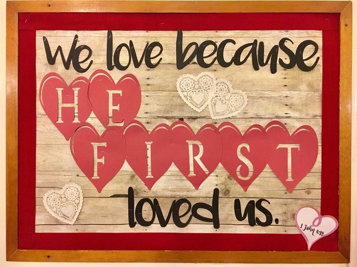 Church bulletin board - Valentine theme