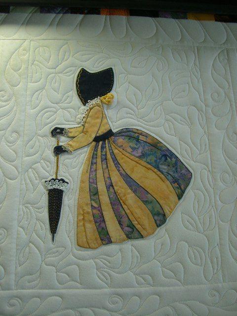 "Quilt Pictures, Patterns & Inspiration...    (Bonnet Girls Patterns of the Past Pattern Book Applique by Helen R Scott). ""Gwen"""