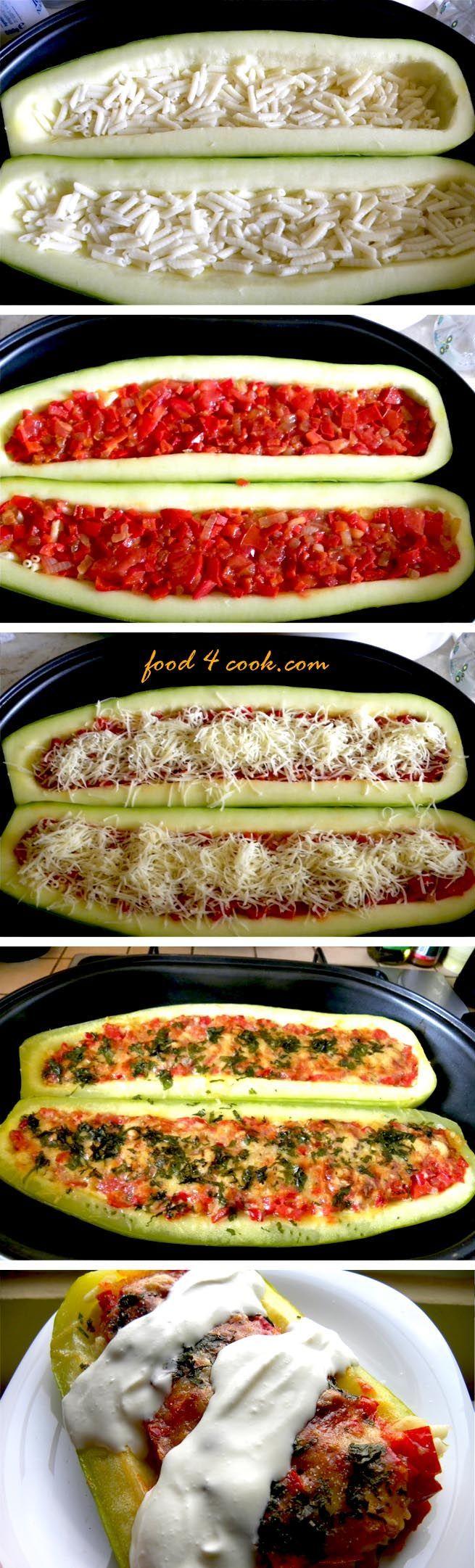 Stuffed Zucchini...this looks amazing!!