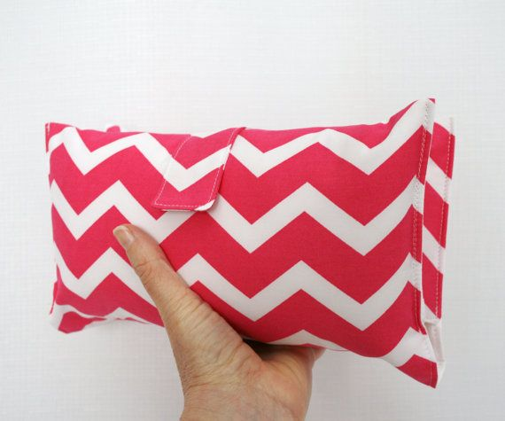 Nappy Wallet  Hot Pink Chevron 2 by VickiElle01 on Etsy