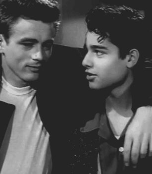 James Dean and Sal Mineo. Bromance