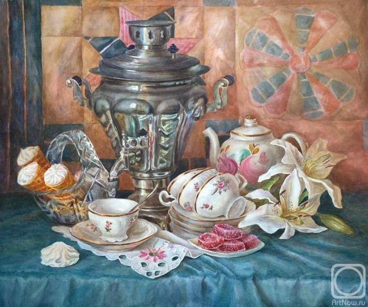 Краснова Юлия. Праздничное чаепитие.