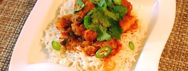 Fijian Style Chicken Curry with Baklouti Chili Fused Olive Oil