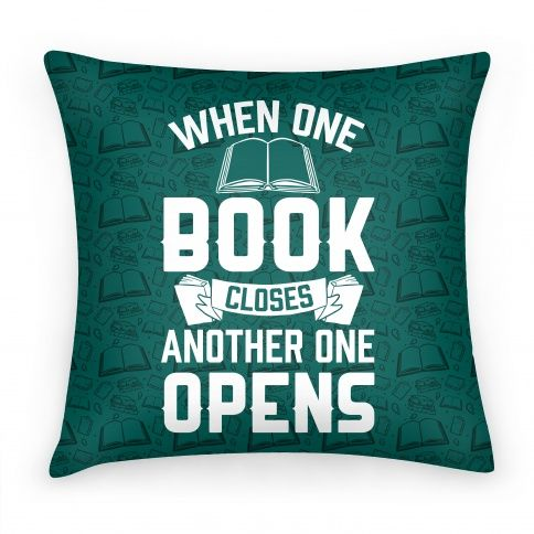 When One Book Closes Another One...   Pillows and Pillow Cases   HUMAN