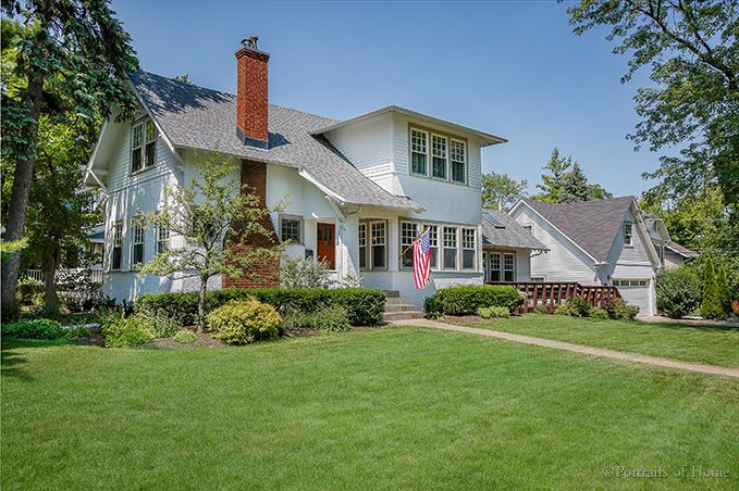 618 Hillside Ave, Glen Ellyn, IL Traditional character and modern updates abound in this walk to town location! 2 blocks to Metra train, short walk to Ben Franklin Elem and Glenbard West HS, watch fireworks from your wraparound deck overlooking the 1/4 acre corner lot. Gourmet kitchen with high end inset cabinetry, soap stone counter tops, tile back splash, pot filler, warming drawer, French door stainless steel refrigerator and top of the line appliances. $589,000