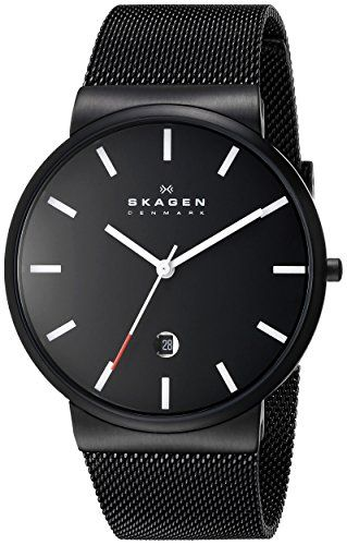 "Skagen Men's SKW6053 ""Ancher"" Black Stainless Steel Watch with Mesh Band Skagen http://www.amazon.com/dp/B00BLZWI5S/ref=cm_sw_r_pi_dp_5.p3wb067M28W"
