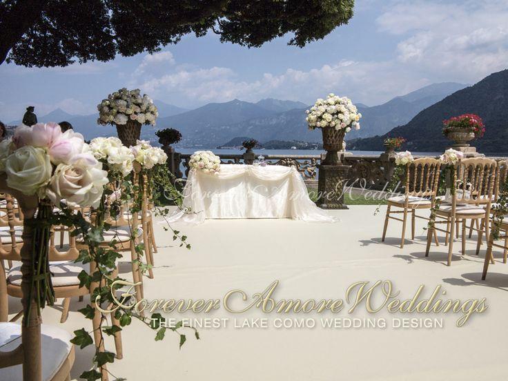 Como Lake wedding, ceremony at Villa Balbianello, Lake Terrace. Picture by ForeveramoreWeddings ©