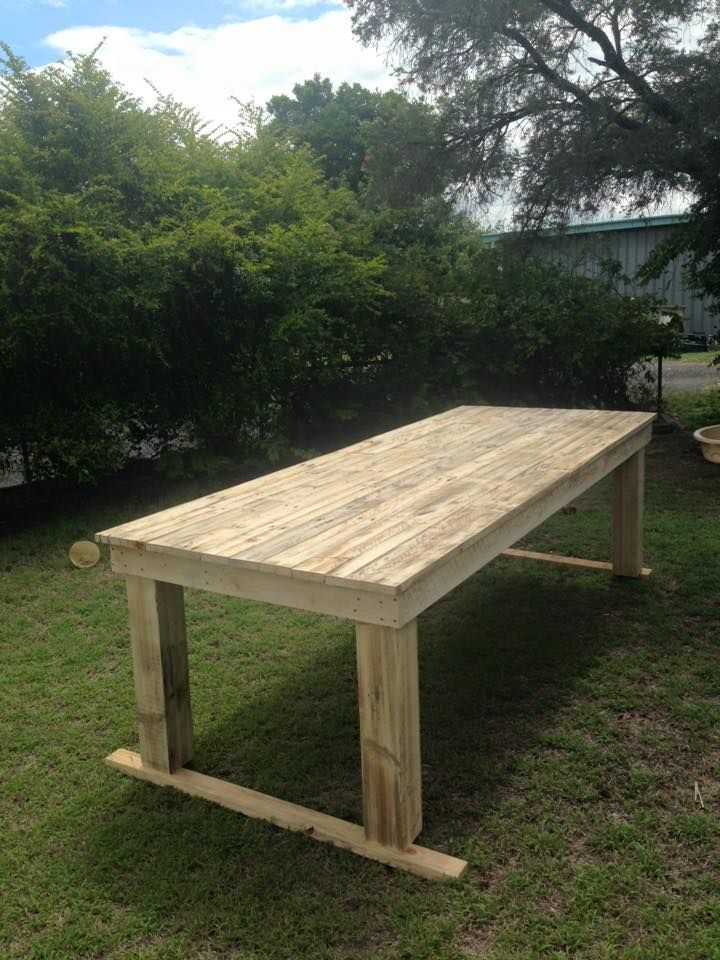 Large Pallet Dining Table | 99 Pallets