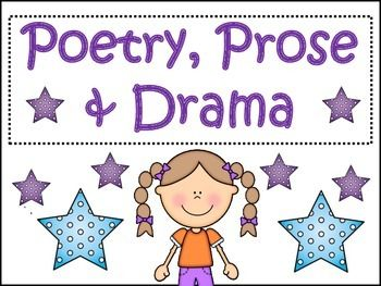 Poetry Prose and Drama Printables and PostersAddresses CCS RL4.5- Explain major differences between poetry, prose, and dramaText Features of Poetry, Text Features of Prose, Text Features of DramaForms of Poetry, Forms of Drama, Forms of PoetryGraphic OrganizerDescription of poetryDescription of ProseDescription of DramaPoetry FormExamplePoetry activitiesCinquain