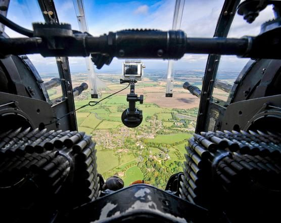 View from read gunner - Lancaster aircraft