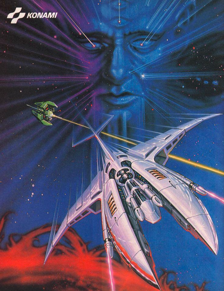Gradius 1985 Retro gaming art, Retro video games