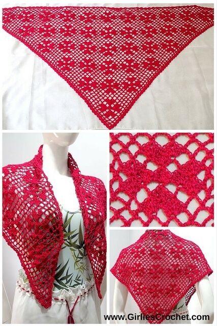 clover heart shawl, free crochet pattern, v-st, beginners pattern, easy, spring shawl, lacy shawl