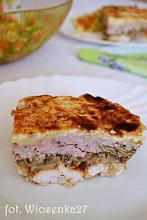 Przekładaniec mięsno-pieczarkowy z serem