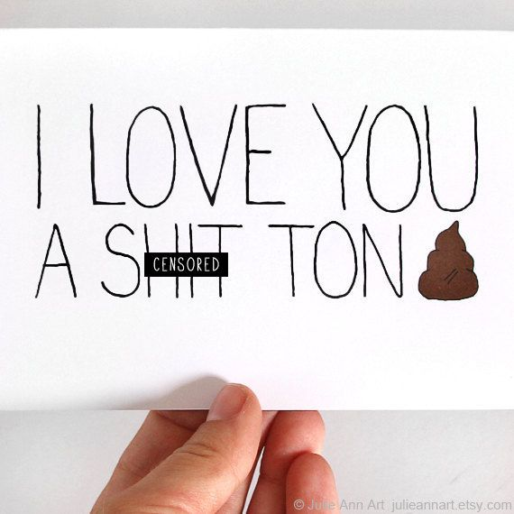 Funny Valentines Day Card I Love You A St Ton By JulieAnnArt,