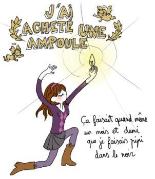 - j'ai acheté une ampoule, by Pénélope Bagieu -