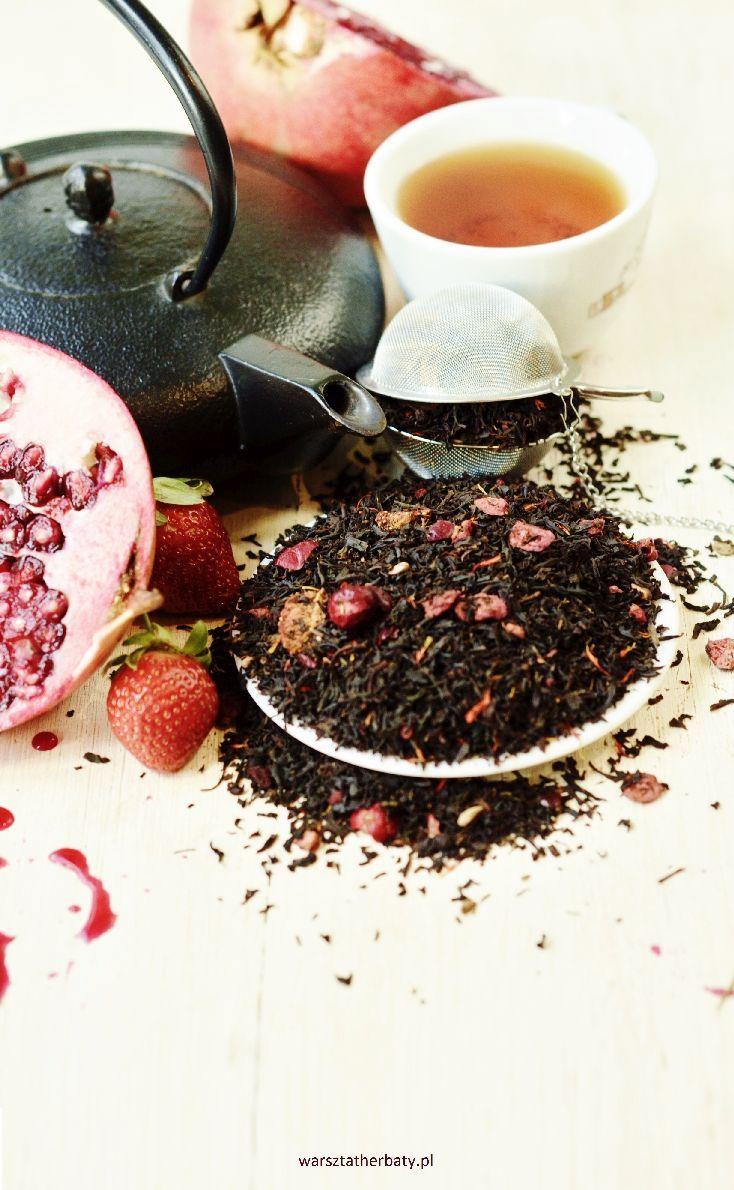 Królewna Śniezka - Czarna herbata z truskawkami, granatem, żurawiną i szafranem.  SNOW WHITE - BLACK TEA WITH STRAWBERRY, POMEGRANATE, CRANBERRY AND SAFFRON  http://warsztatherbaty.pl/czarne-herbaty-z-dodatkami/440-krolewna-sniezka.html