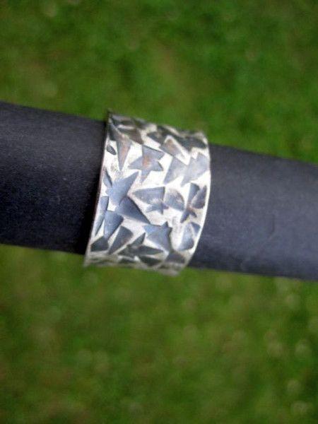 Bandringe - Bandring Silber 925 Gr. 65 punziert Dreieck - ein Designerstück von objektschmuck bei DaWanda