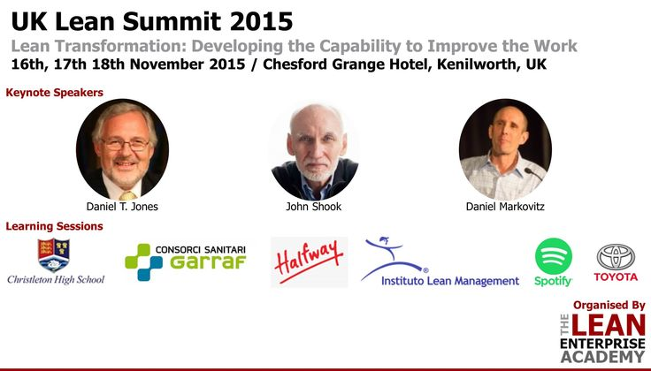 UK Lean Summit 2015 - Meet the speakers