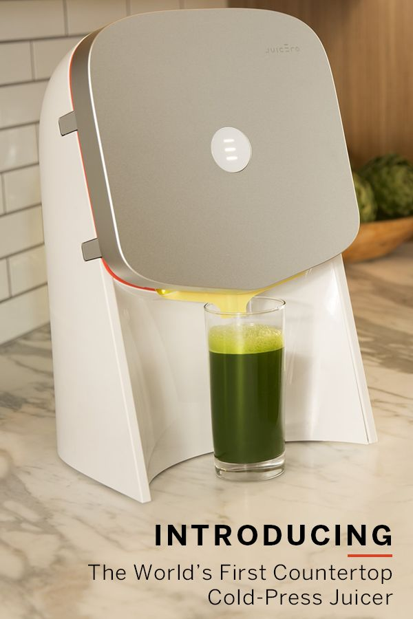 Introducing the World's First  Cold-Press Juicer  At the push of a button, true health is yours. Start making organic, cold-pressed juice at home every day with Juicero—the world's first at-home, cold-press juicing system. Drink fresh juice on demand and leave chopping, cleaning and other juicing hassles behind. Learn more at Juicero.com