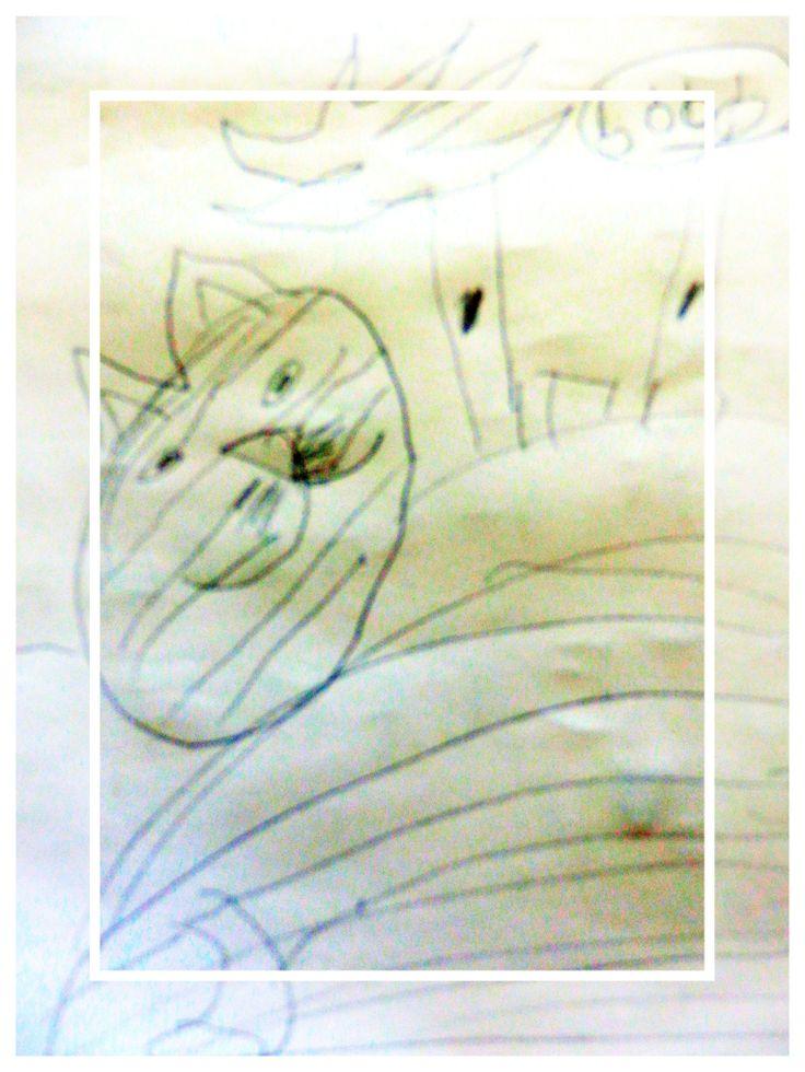 Kočka - kresba: Bětka
