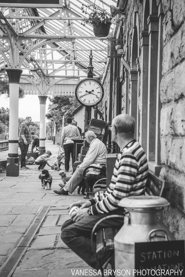 Train Stations, old clocks, dogs!