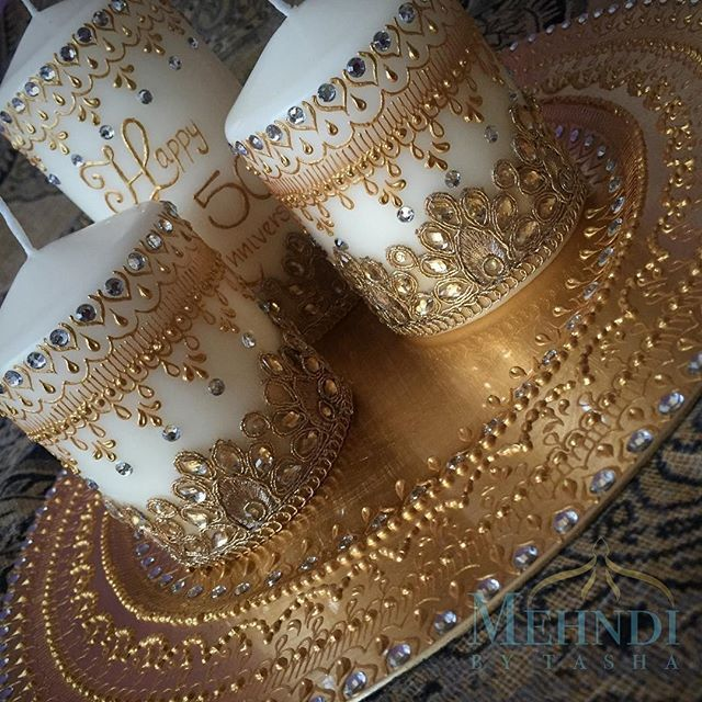 Gold on gold and more gold ✨ Available to order ••• To place an order please contact mehndibytasha@gmail.com DM or request a DM. ••• #mehndithaal #mehndiplate #wedding #weddingthaal #decor #weddingdecor #weddings #asianwedding #moroccan #indian #tagsforlikes #thaals #thaal #mehndiplate #mehndidecor #hennaartist #love #instagood #me #cute #follow #followme #photooftheday #happy #tagforlike #beautiful #girl #like #fashion #instalike