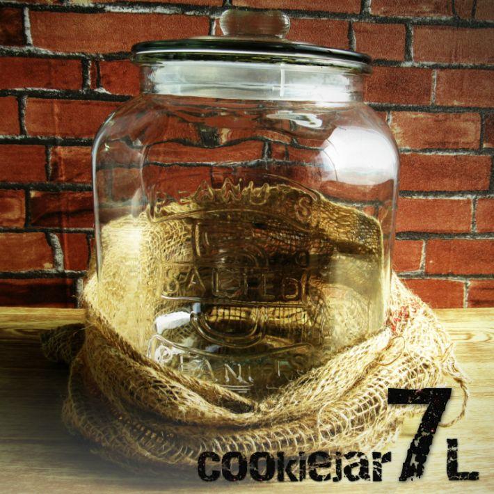 【楽天市場】【ガラス容器】アンティーク クッキージャー 7L 保存瓶・保存容器・ガラス瓶 7リットル(お米:5kg用)ガラスジャー 米びつ 7.0L リビング:デイリー通販 楽天市場店