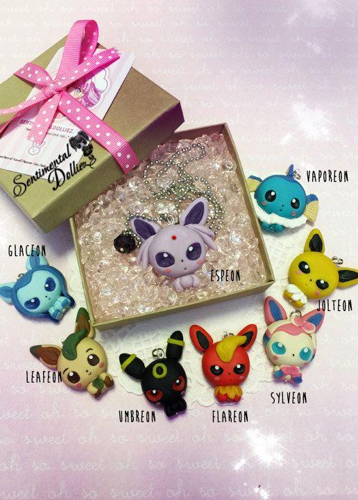 Pokemon Eeveelution Jewelry Pokemon Necklace by SentimentalDollieZ
