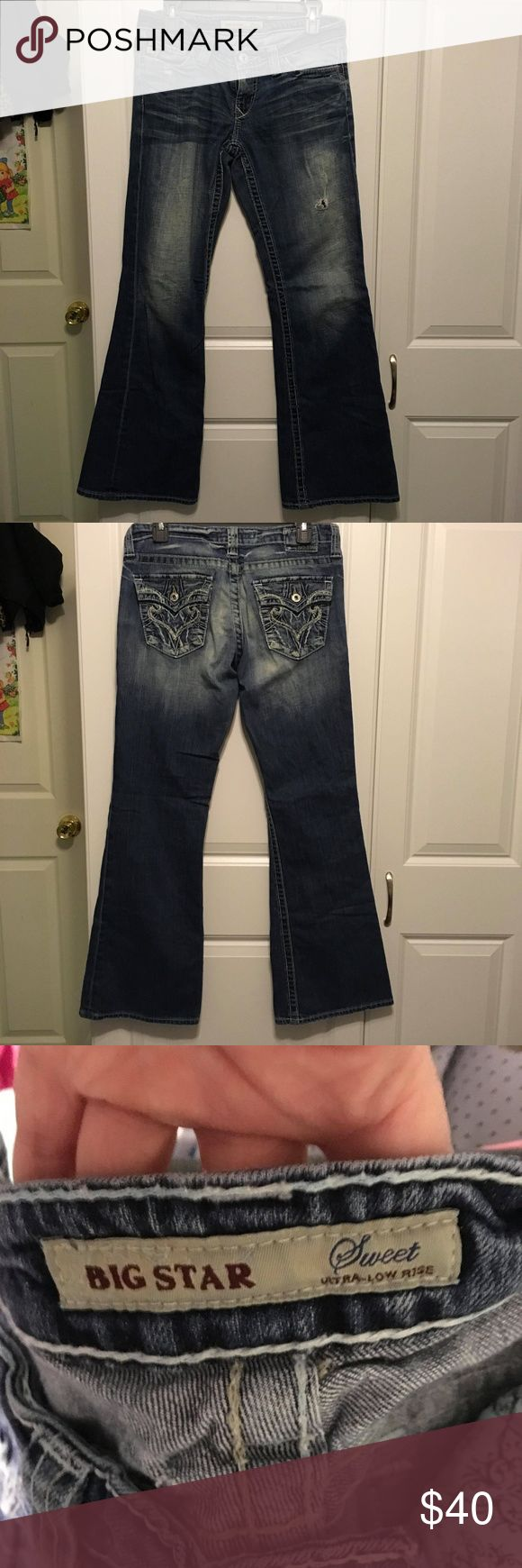 Big Star Jeans Womens Big Star Bundle. Both are 28R. One pair is sweet ultra lowrise and the other is sweet low boot. One pair is darker than the other. Big Star Jeans Flare & Wide Leg