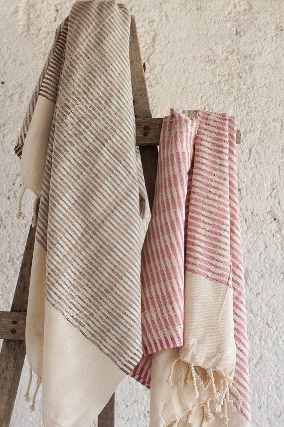 Parisian Towel Cotton Turkish Towel Beach Towel by LongestThread