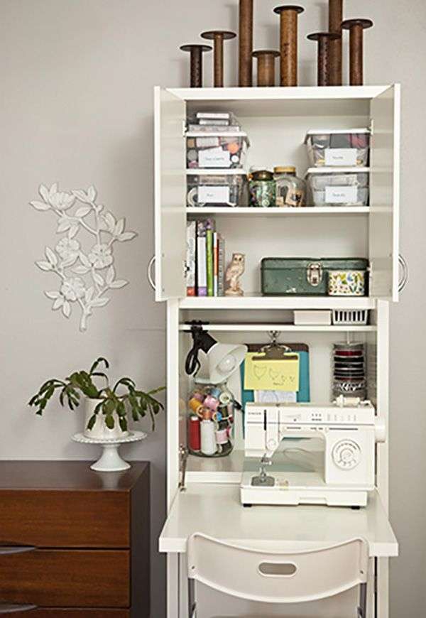 Best 25+ Small sewing space ideas on Pinterest | Small sewing ...